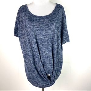Siren Lily Knotted Front Knit Top 3X